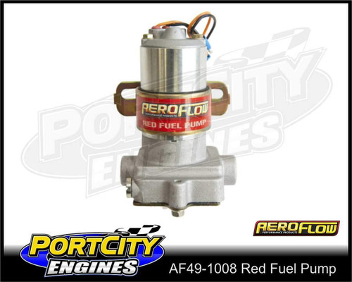 Aeroflow Electric Fuel Pump Red 97 GPH 7 psi Petrol AF49-1008