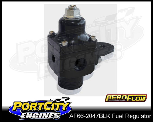 Aeroflow Adjustable Carby Fuel Pressure Regulator 750HP 4 – 12 psi AF66-2047BLK