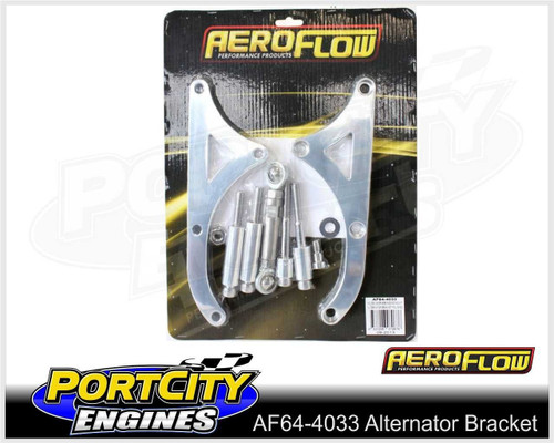 Aeroflow Alloy Alternator Bracket Holden V8 253 308 HQ HJ HZ pre EFI AF64-4033