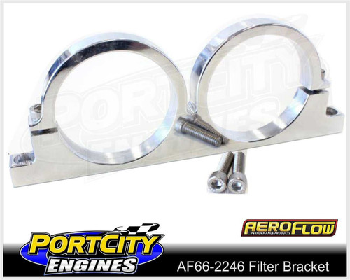 "Aeroflow Alloy Double Filter Bracket suit 2.5"" Filter Remote Reservoir AF66-2246"