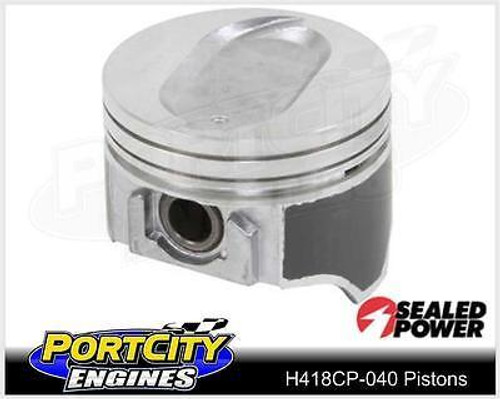 Sealed Power Dish Top Piston set for Ford B/B V8 460 .040 Oversize H418CP-040