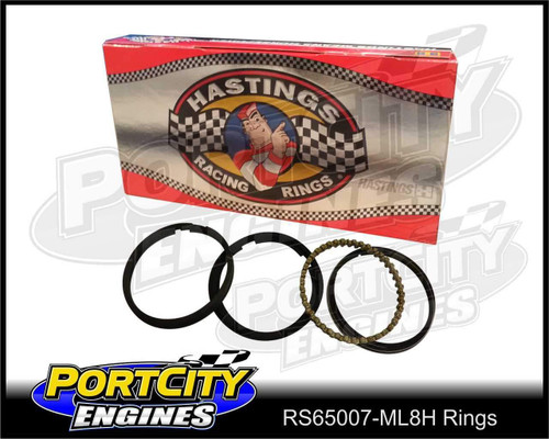 Hastings Moly Piston Ring Set Performance V8 Chevy Ford Holden file back RS65007