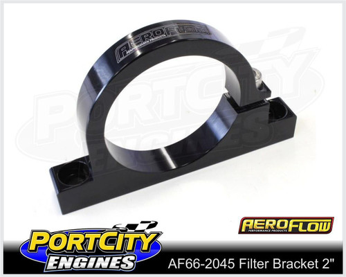 "Aeroflow Alloy Single Filter Bracket suit 2"" Filter Remote Reservoir AF66-2045BLK"