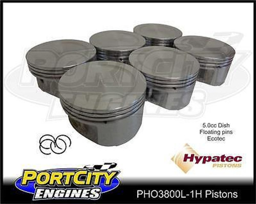 Hypatec Piston set for Holden Commodore 3.8L V6 Ecotec 5.0cc dish PHO3800L0001H