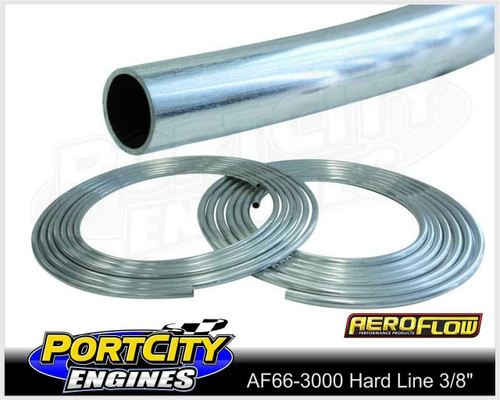 "Aeroflow Alloy Hard Line 3/8"" 25 feet Roll Petrol Oil Water AF66-3000"