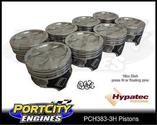 Hypatec Piston set for Chevy 383 & Holden 355 V8 stroker 18cc dish PCH3830003H