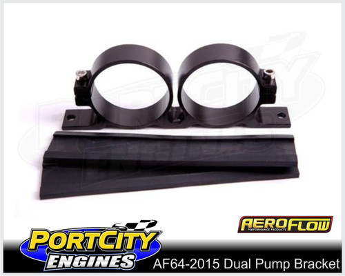 Aeroflow Alloy Dual EFI Fuel Pump Bracket Bosch 60mm AF64-2015BLK