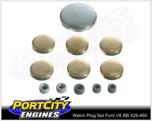 Welsh Brass Core Plug Kit Set for Ford V8 BB 429 460 WPK-F429