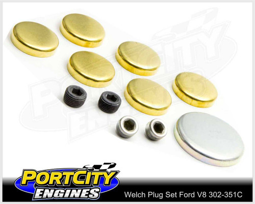 Welsh Brass Core Plug Kit Set for Ford V8 302 351 Cleveland WPK-F351C