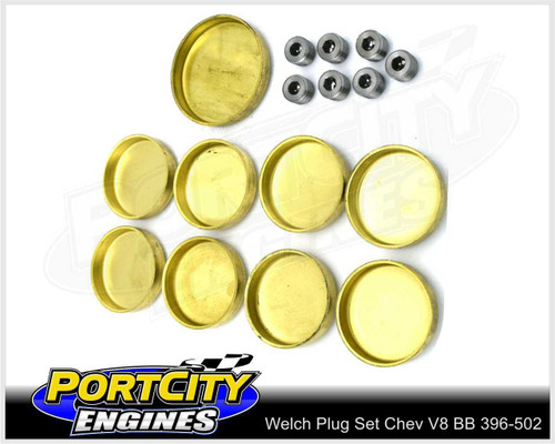 Welsh Brass Core Plug Kit Set Chev V8 BB 396 402 427 454 502 WPK-C454