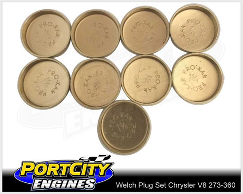 Welsh Brass Core Plug Kit Set for Chrysler V8 SB 273 318 360 WPK-C318