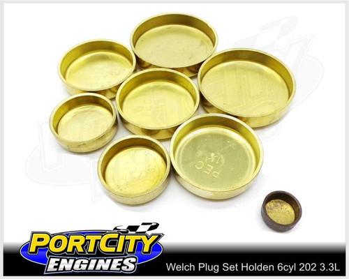 Welch Welsh Brass Core Plug Kit Set Holden 6cyl 202 3.3L Blue Black WPK-H202B