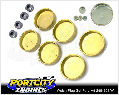 Welch Welsh Brass Core Plug Kit Set for Ford V8 289 302 351 Windsor WPK-F351W