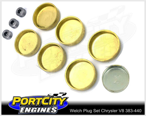 Welch Welsh Brass Core Plug Kit Set Chrysler V8 BB 383 400 413 426 440 WPK-C440