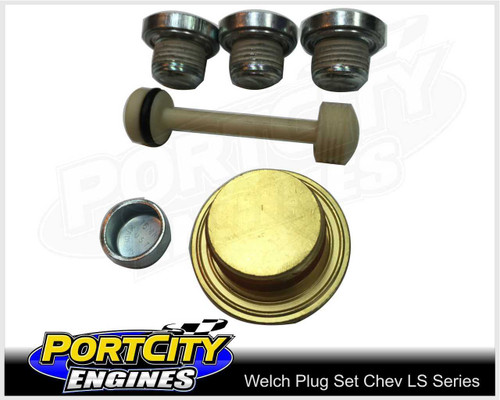 Welch Welsh Brass Core Plug Kit Set Holden Chev V8 LS Series LS1 LS2 LS3 LS7 L98