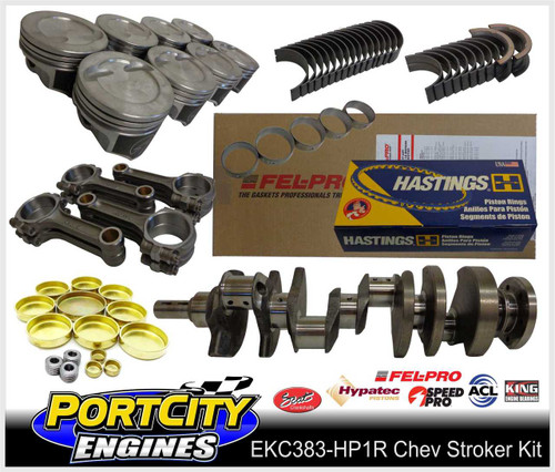 Chev 383 HP1 performance stroker engine kit for Small Block 350 383 5.7""