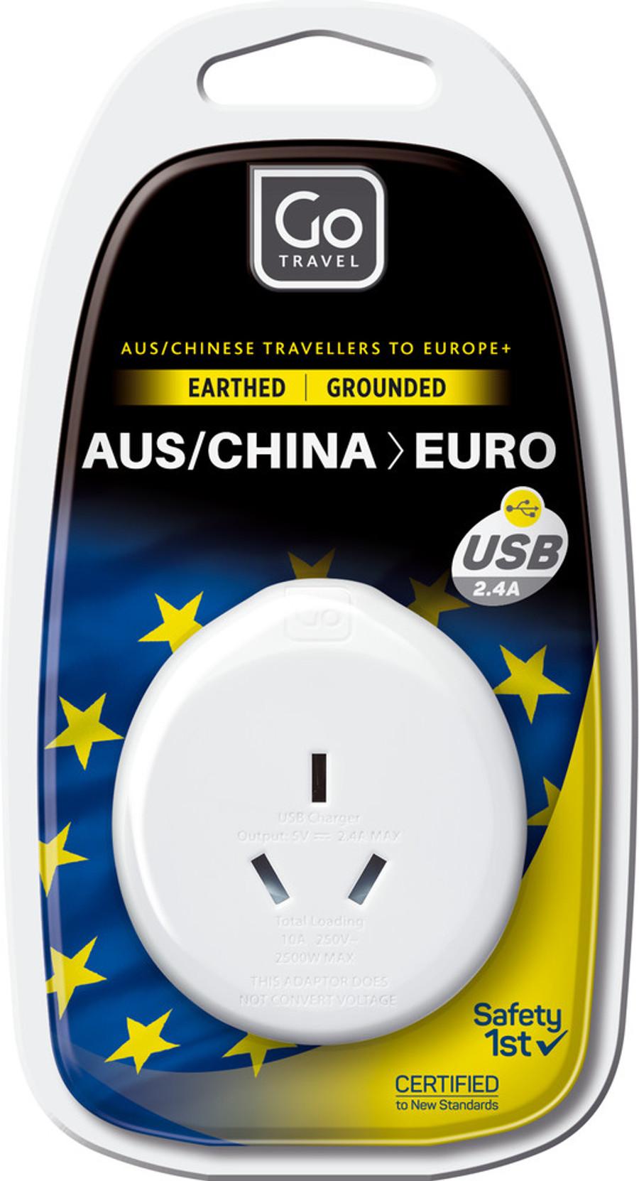 AUS - EU Adaptor + USB