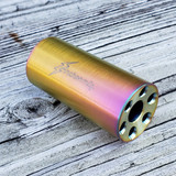 """.308 / 7.62 Linear Compensator 5/8""""-24 Threads 303 Stainless Pink Gold Spectrum"""