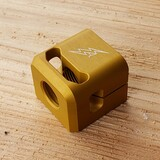 ARCHON MFG SHORTY GLOCK COMPENSATOR 1/2-28 9MM MATTE GOLD ANODIZE