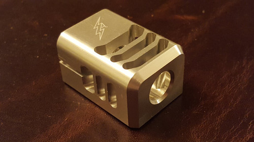 ARCHON MFG GLOCK COMPENSATOR 1/2-28 9MM ( LIMITED RUN CLEAR ANODIZE )