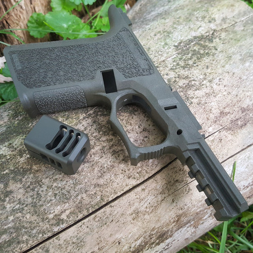ARCHON MFG GLOCK COMPENSATOR 1/2-28 9MM LIMITED EDITION OD GREEN DURACOAT