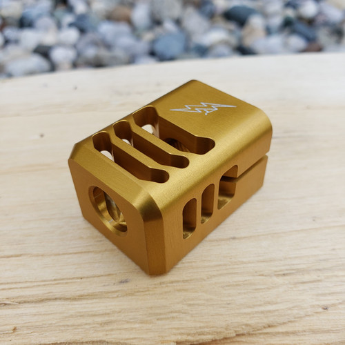 ARCHON MFG GLOCK COMPENSATOR 1/2-28 9MM GOLD ANODIZE