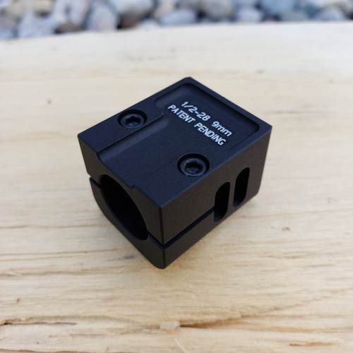 ARCHON MFG GLOCK MINI COMPENSATOR 1/2-28 9MM BLACK ANODIZE