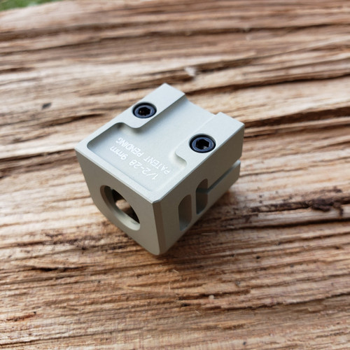 ARCHON MFG GLOCK MINI COMPENSATOR 1/2-28 9MM PHANTOM GREY ANODIZE