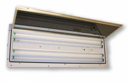 4' (2) Lamp Inside Access Paint Booth Light Fixture Available in 32 watt T8 Multiple voltages available