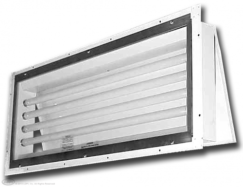 4' (4) Lamp 261 LED Series Paint Booth Light Rear Access Fixture Designed specifically for Paint Spray Booths
