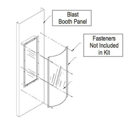 Blast Booth Lexan Cover Keep your fixtures new! Protects lens from overspray Applies easily to a clean lens