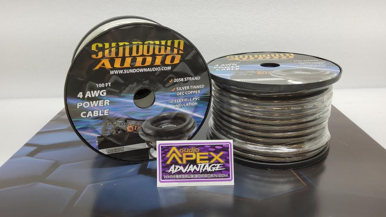 Sundown Audio 4 AWG OFC POWER WIRE /  BY THE FOOT