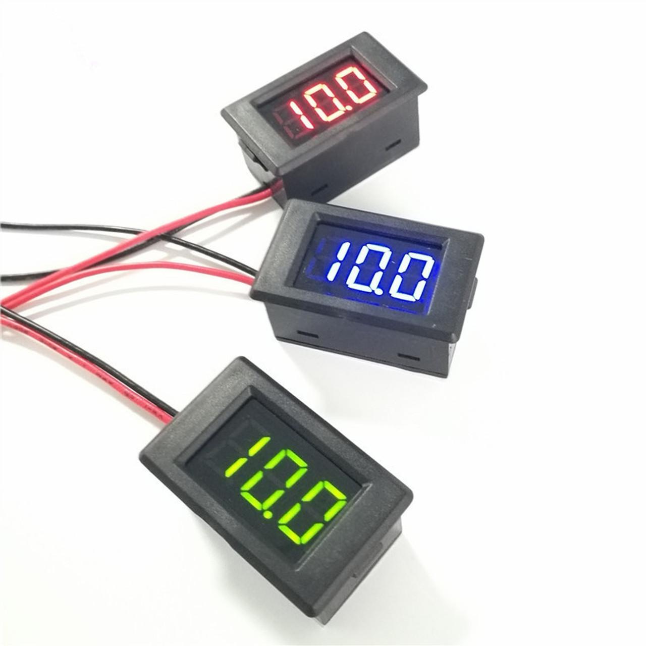Audio Apex 12V Battery Digital LED Voltmeter