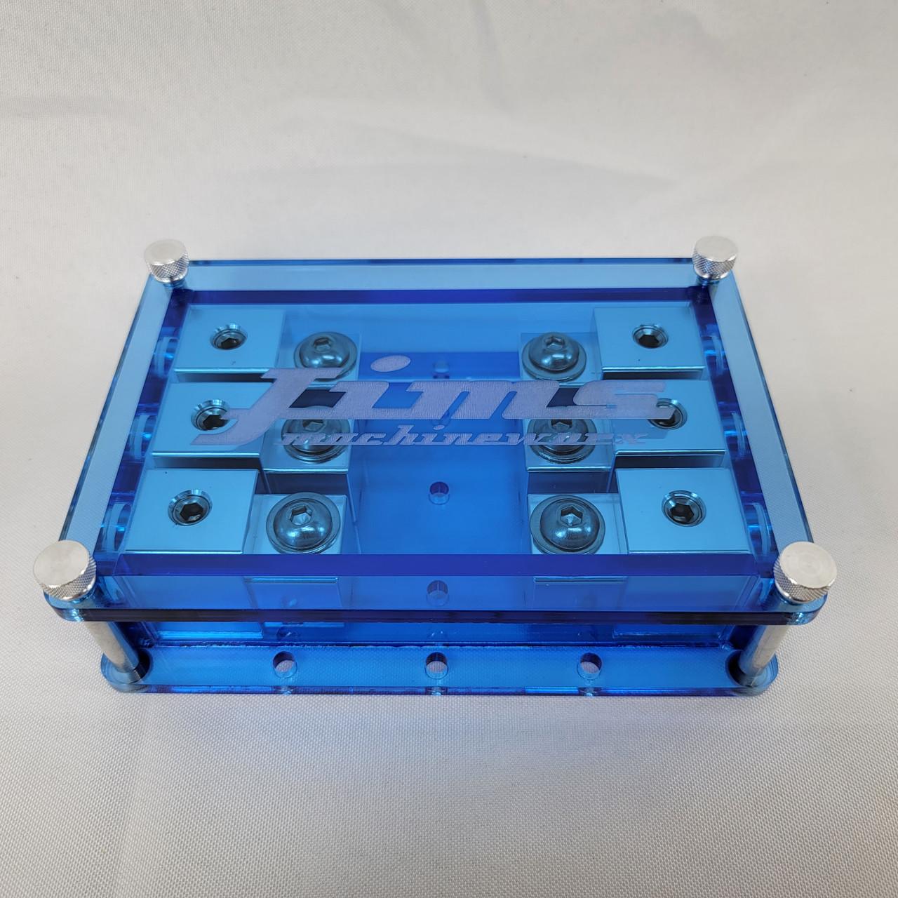 Jims Machineworx Blue 3 Spot Set Screw Style Fuse Holder