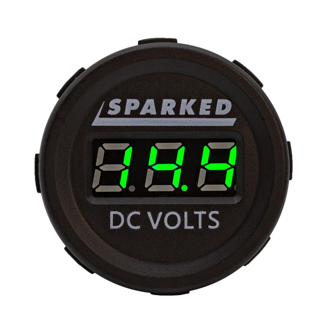 Sparked Innovations Single Battery Voltmeter Monitor 12VDC for Main and AUX Battery