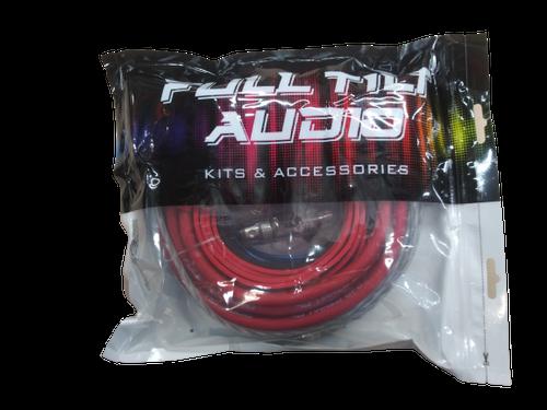 FULL TILT 4 GAUGE AWG RED/BLACK AMPLIFIER/AMP WIRE KIT
