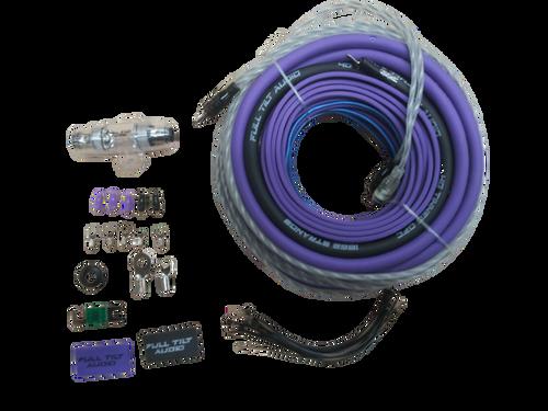 FULL TILT 4 GAUGE AWG PURPLE/BLACK AMPLIFIER/AMP WIRE KIT