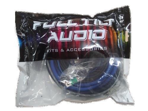 FULL TILT 4 GAUGE AWG BLUE/BLACK AMPLIFIER/AMP WIRE KIT
