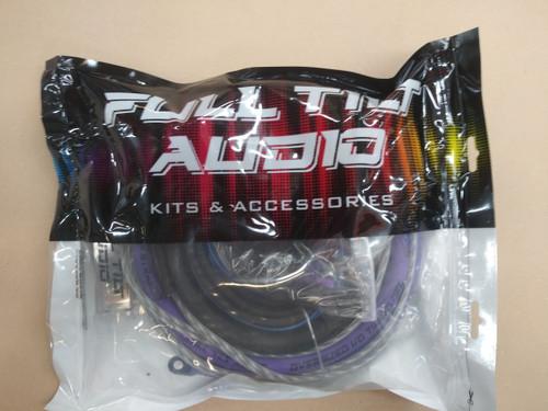 FULL TILT 1/0 GAUGE AWG PURPLE/BLACK AMPLIFIER/AMP WIRE KIT
