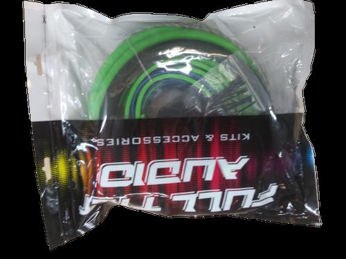 FULL TILT 1/0 GAUGE AWG LIME GREEN/BLACK AMPLIFIER/AMP WIRE KIT