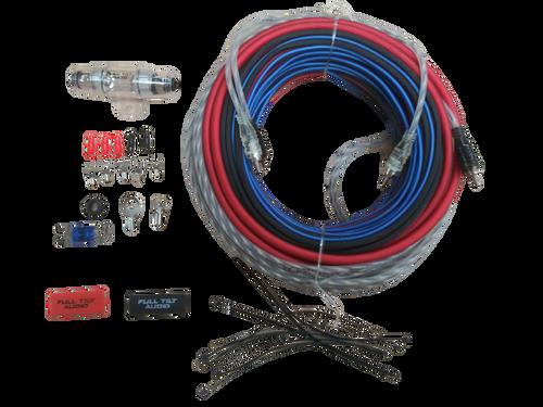 FULL TILT 8 GAUGE AWG RED/BLACK AMPLIFIER/AMP WIRE KIT