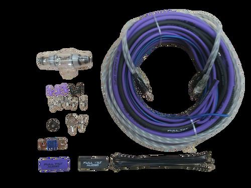 FULL TILT 8 GAUGE AWG PURPLE/BLACK AMPLIFIER/AMP WIRE KIT