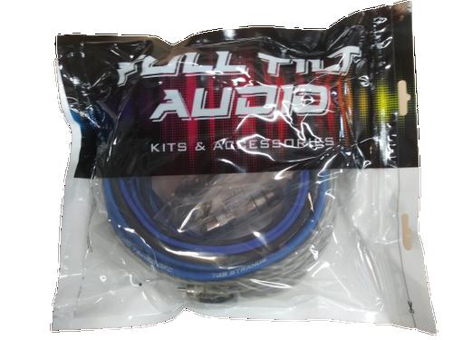 FULL TILT 8 GAUGE AWG BLUE/BLACK AMPLIFIER/AMP WIRE KIT