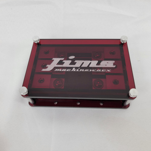 Jims Machineworx Red 3 Spot Set Screw Style Fuse Holder