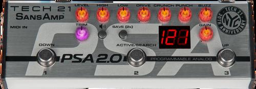 Tech 21 SansAmp PSA 2.0 Programmable Guitar Pre-amp Pedal