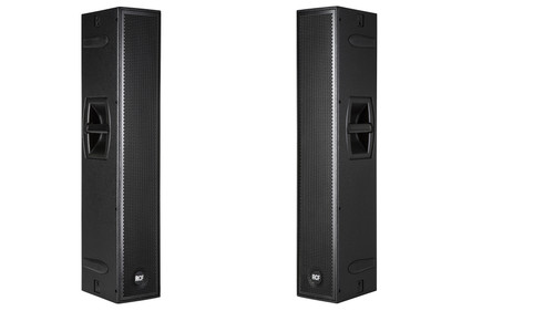 """2 RCF NXL 24-A Active speakers 4 6"""" drivers Two-Way Array with covers"""