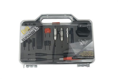 Hosa Musicians Survival Kit  Includes 9 Adaptors 3 Connectors 2 Y-Cables and Accessories