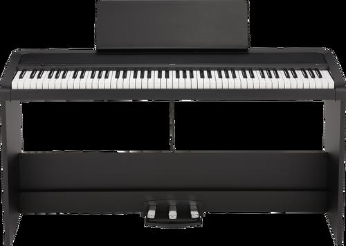 Korg B2SPBK 88-Key Digital Piano with Stand and Three Pedal System Black