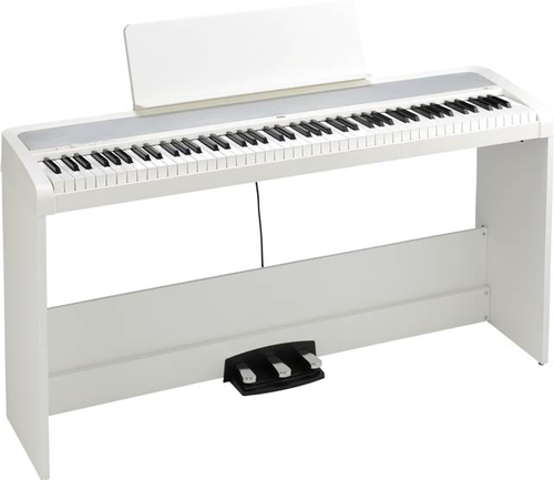 Korg B2SPWH 88-Key Digital Piano with Stand and Three Pedal System White