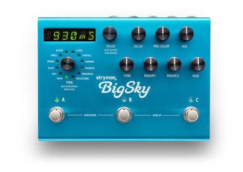 Strymon BigSky Reverberator guitar pedal display open box